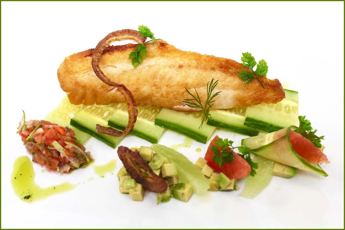 Herb Scott Catering | Fish over Cucumber
